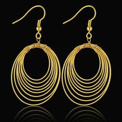 Brincos Designer Fashion Unique Earring Female, Wholesale Charms Drop Earrings Gold Plated Jewelry Woman Earrings 2016 New Style - onlinejewelleryshopaus