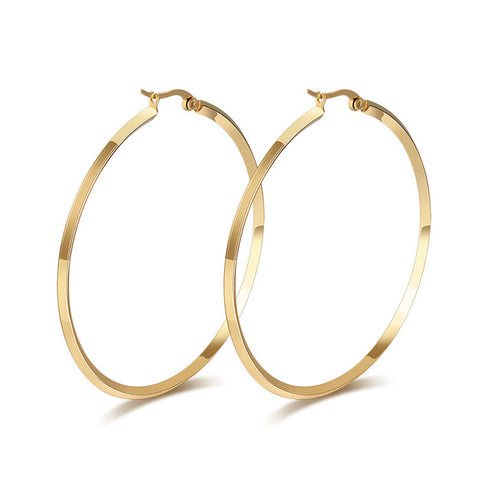 Effie Queen 2017 New Fashion Jewelry Titanium Steel Hoop Earrings Hot New Trendy Women Party Earrings DTE42 - onlinejewelleryshopaus