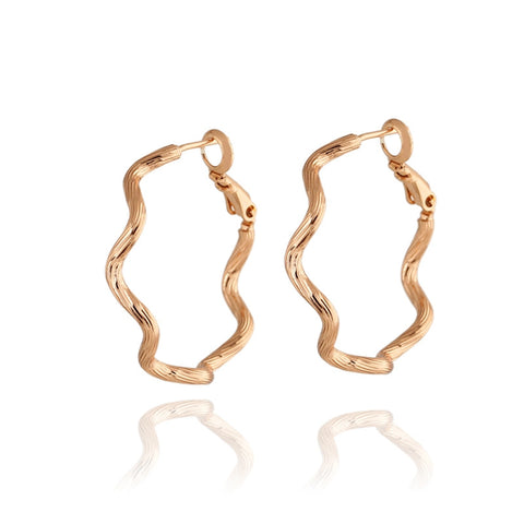 Big Gold /Sliver Flower Hoop Earrings Fashion Earrings Big Circle Gold Plated Hoop Earrings For Women - onlinejewelleryshopaus