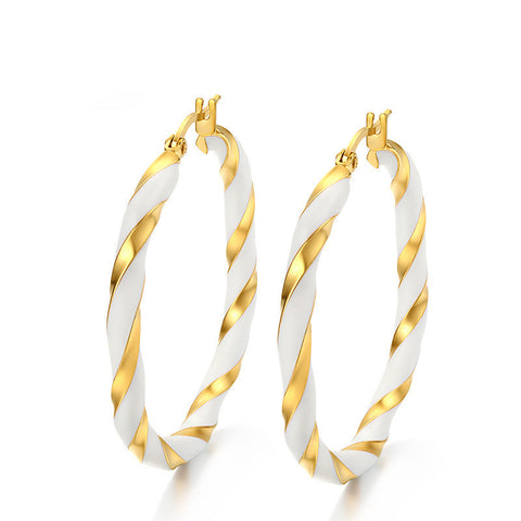 Big Earrings New Trendy Gold Plated Hoop Earrings Jewelry Wholesale Round Large Size Hoop Earrings for Women - onlinejewelleryshopaus