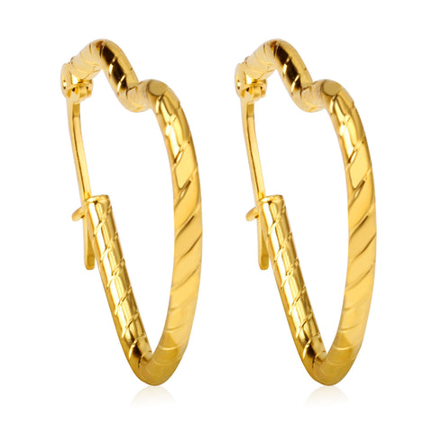 2016 new fashion Jewelry casual round hoop earrings gold Plated earing brincos - onlinejewelleryshopaus