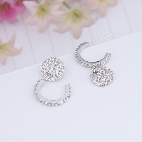 Famous Brand Classic Round Hoop Earrings For Women Inlay Cluster Shining CZ Diamond Earings For Girl Best Friend Gift WE221 - onlinejewelleryshopaus