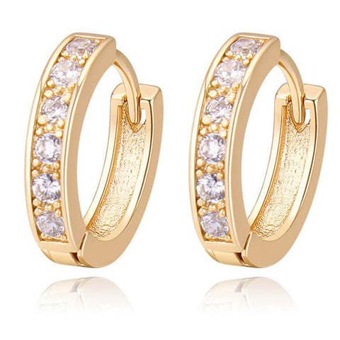 AAA CZ Diamond Earrings Vintage Fashion Jewelry Cubic Zirconia Small Hoop Earrings For Women 22464 - onlinejewelleryshopaus
