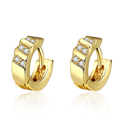 European women luxury gold plated Basketball Wives chunky round big channel hoop earring aros brincos de ouro cc earring jewelry - onlinejewelleryshopaus