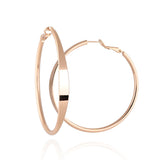 Hot Sale Hoop Earrings Big Smooth Circle Earrings Loop Earrings For Women Jewelry - onlinejewelleryshopaus
