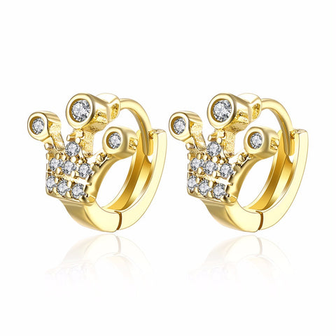 Wholesale 2016 Gold plated Brincos AAA Zircon Hoop Earring Classic CZ diamond Jewelry for women Earrings - onlinejewelleryshopaus
