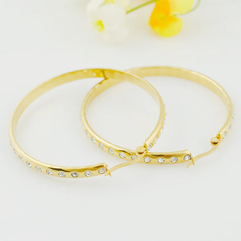 Free shipping,2014 New Fashion Rhinestone Hoop Earrings Basketball Wives Jewelry Gift Items wholesale women Accessories,WE216 - onlinejewelleryshopaus