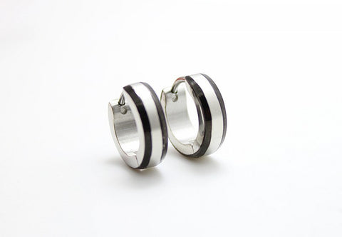 New arrival Steel Men's Women's Hoop Earrings Fashion Jewelry 24pairs Stainless Steel Silver/Gold Earrings - onlinejewelleryshopaus