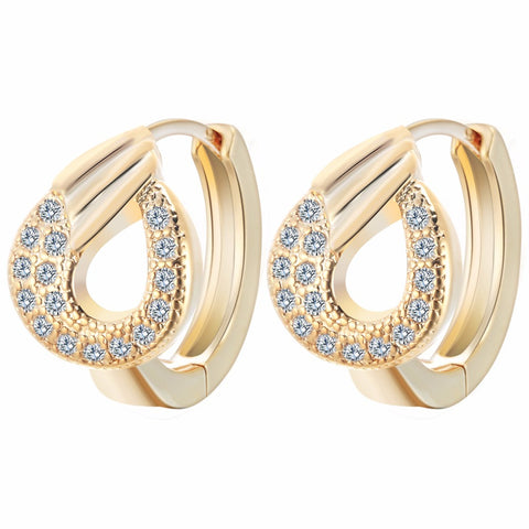 10Pairs  Hot Sale Fashion Tide Plated Rose Gold Unique Zircon Pave Swan Dazzling Summer Hoop Earrings Factory Wholesale - onlinejewelleryshopaus