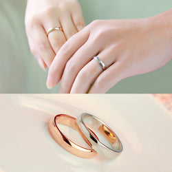 Fashion Jewelry 316L Germany Imported Titanium Steel Rings Rose Gold Plated Polishing Couple Wedding Rings Engagement Ring - onlinejewelleryshopaus
