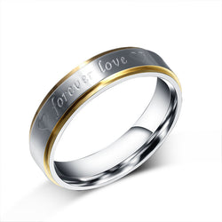 """forever love"" Fashion Wedding Rings Romantic Marriage Proposal For Women/Men Stainless Steel Engagement Jewelry Christmas Gifts - onlinejewelleryshopaus"