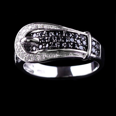 Jewellery Micro Cubic Zircon Men 10KT White Gold Filled Wedding Ring Belt Rings Jewelry Fashion - onlinejewelleryshopaus