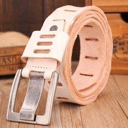 2017 White belt for women mens hot designer strap high quality full grain cowhide genuine leather cowboy cow ceinture - onlinejewelleryshopaus