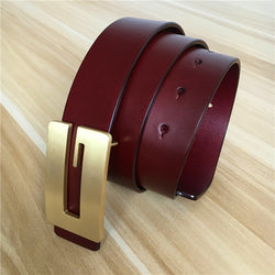 Designer Belts Men High Quality Brand Men G Belt Genuine Leather Brass Buckle Ceinture Homme Cinturones Mujer Male Strap MBT0396 - onlinejewelleryshopaus