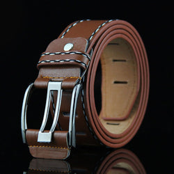 New Arrival Men Needle Belt Buckle Foreskin Canvas Leather Stitching Belt Leisure Joker High Quality - onlinejewelleryshopaus