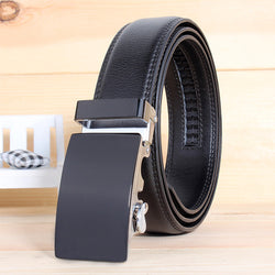 Fashion designer men leather belts strap male cowhide automatic buckle girdle wide men belt #D0995 - onlinejewelleryshopaus