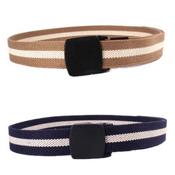 Newly Design Men Women Wide Canvas Wasit Belt with Plastic Automatic Buckle RAW4240 - onlinejewelleryshopaus