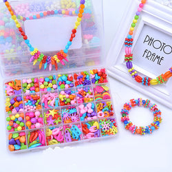 Intelligence Toys Children DIY String Beads Set Jewelry Candy Color Beads Box Packing Kit for Kids Making Bracelet Toy ZDD003 - onlinejewelleryshopaus