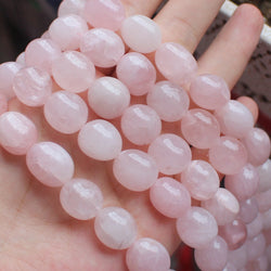 "Wholesale 11-14mm Natural Rose Quartz Smoth Freeform Beads 15"",For DIY Jewelry Making !We provide mixed for all items! - onlinejewelleryshopaus"