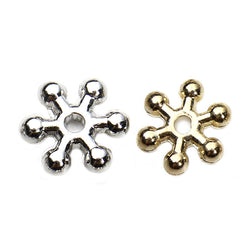 500pcs/lot CCB Plastic Dia 8mm Daisy Spacer Beads Silver Gold Plated Snowflake Spacer Beads Tibetan For Jewelry Making F3664 - onlinejewelleryshopaus