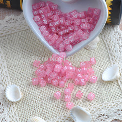 6x6mm 400PCs Mixed Sky Pink Acrylic Alphabet/Letter square Beads Pony Beads For Jewelry Making YKL0116 - onlinejewelleryshopaus