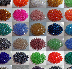 can choose color 500Pcs Bicone Faceted Glass Crystal Beads Charms 4mm Black White blue Clear Colored Mixed For Jewelry Making - onlinejewelleryshopaus
