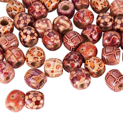 Mixed Color Wood Beads for DIY Jewelry Making 16mm Large Hole Loose Spacer Beads Fit Handmade Bracelets Necklace Craft Findings - onlinejewelleryshopaus