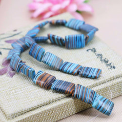 13x18 Hot sale Flowers Blue Stripe Turquoise Rectangle loose beads Jasper Jewelry making design 15inch Girls Gifts stones DIY - onlinejewelleryshopaus