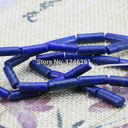 Hot Sale Ornaments Crafts Lapis lazuli Loose Beads Jasper Jade Stone Bamboo Tube Jewelry Making Design Girls Gifts 15inch 5X14mm - onlinejewelleryshopaus