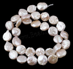 Coin Round Freshwater Pearl Beads Women Fashion Jewelry DIY Natural Pink 9-10mm Pearl Loose Beads Making for Bracelet Necklace - onlinejewelleryshopaus