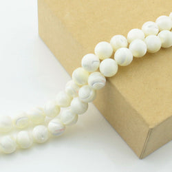 2x 40cm 2mm charm Natural top mop shell pearl beads pearl for DIY earring chain Spacer beads for jewelry making - onlinejewelleryshopaus