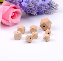 Wholesale Nature Color Unfinished Geometric Wooden Beads Wood Spacer Beads 10/12/14/16/20/30mm For Fashion Jewelry Making - onlinejewelleryshopaus