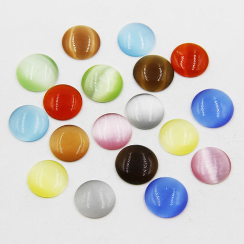 50pcs 12mm Mixed color flatback cabochon beads DIY opal cabochon beads for jewelry making P00563 - onlinejewelleryshopaus