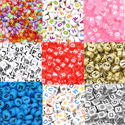 500pcs Square Round Acrylic Mixed Alphabet Spacer Beads For Jewelry Making 6mm Letter Beads Charms Bracelet Necklace DIY - onlinejewelleryshopaus