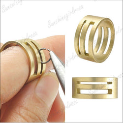 New Arrival DIY Raw Brass Jump Ring Open/Close Tools For Jewellery Making Accessories Lowest Price - onlinejewelleryshopaus