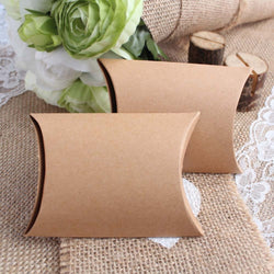 100Pieces/lot New Style Kraft Pillow Shape Wedding Favor Gift Box ,Party Candy Gift Bag Wholesales - onlinejewelleryshopaus
