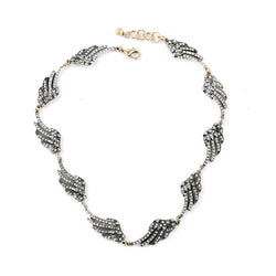 2015 Summer Style Fine Jewelry Choker Anti-Silver Multi Wing Statement Necklace for Women Jewellery Clear Crystal Necklaces - onlinejewelleryshopaus