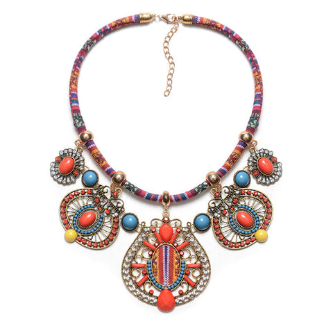 New Fashion Trending Necklace Ethnic style Rope chain Choker Vintage Necklace collar India Jewelry for women - onlinejewelleryshopaus