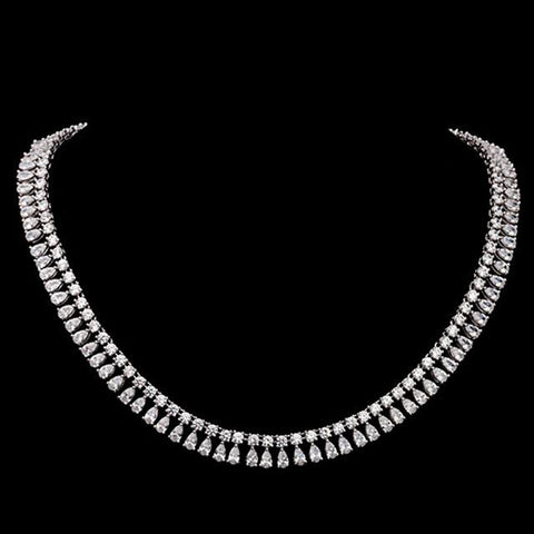 VOGUESS Luxe 200 Pieces Sparkling AAA+ Cubic Zirconia Bridal Bridesmaid Wedding Collar Necklace Jewelry With Free Jewelry Box - onlinejewelleryshopaus
