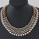 Fashion Crystal Rhinestone Choker Bib Statement Collar Necklace Luxury Choker Pendant Jewelry Collares - onlinejewelleryshopaus