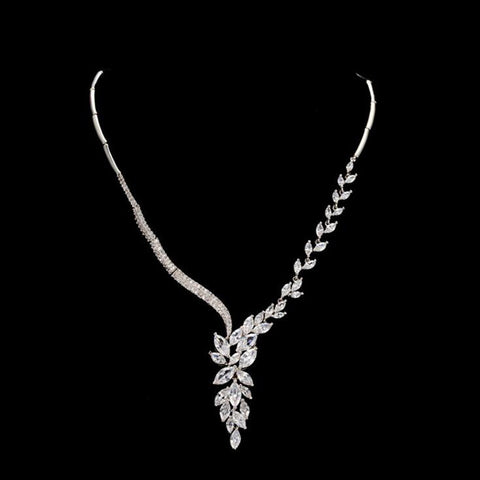 VOGUESS Luxy Marquise Cutting AAA+ Cz Pendant Necklace Long Bride Bridesmaid Wedding Flower Jewelry Top Quality Cz Jewelry - onlinejewelleryshopaus
