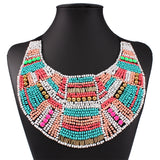 2017 New Fashion Acrylic Beads Bohemian Necklace Boho Maxi Statement Necklace Big Ethnic Vintage Necklace Women Jewelry - onlinejewelleryshopaus