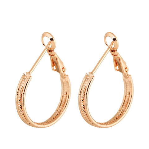 2016 New Big Hoop Earrings for Party Wedding Top Quality Earrings for Women Beauty Hot Sale Valentine's Day Gift E0069