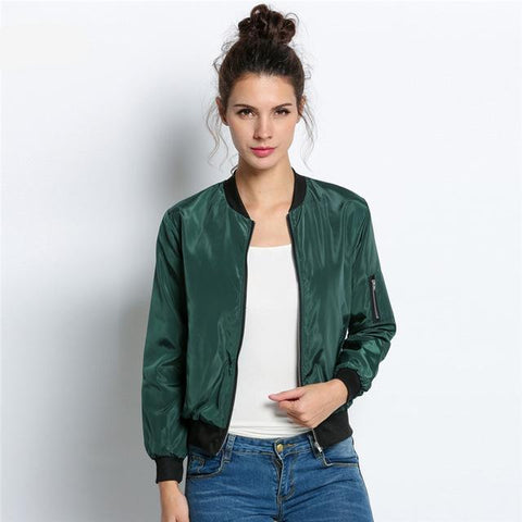 Bomber Jacket for Women with Long Sleeve
