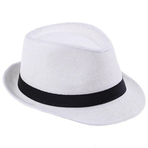 Free Shipping 2016 Plain Color Panama Straw Hats Fedora Soft Vogue Men Women Stingy Brim Caps 6 Colors Choose 58 cm