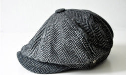 Caps Movie star Retro Unisex HERRINGBONE TWEED