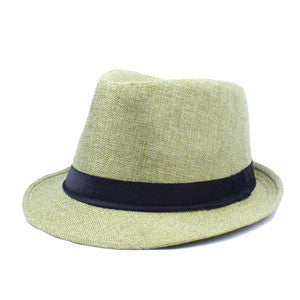 2017 New Fashion unisex women men summer fedora hats for laday Dad panama jazz hat