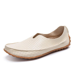 Flats Breathable Hollow Out Genuine Leather High Quality Shoes