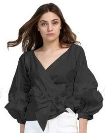 Fashion Puff Sleeve Jacket Women Off Shoulder Sexy Party Tops Deep V neck Women Jackets Coats With Bow Black White Plus Size 4XL