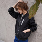 Spring Autumn Women Jackets Tops MA1 Bomber Jacket Long Sleeve Coat Casual Stand Collar Slim Fit Outerwear Plus Size 5XL MZ1492
